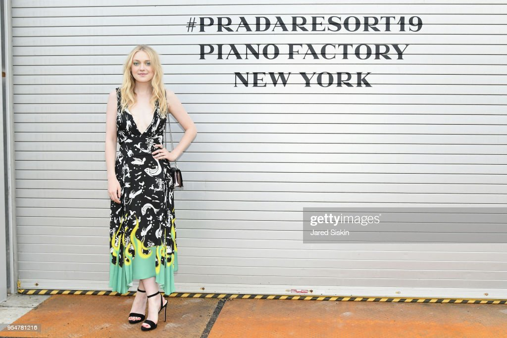 Actor Dakota Fanning attends the Prada Resort 2019 fashion show on May 4, 2018 in New York City.