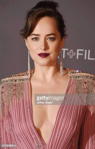 Actor Dakota Johnson attends the 2017 LACMA Art + Film Gala Honoring Mark Bradford and George Lucas presented by Gucci at LACMA on November 4, 2017...