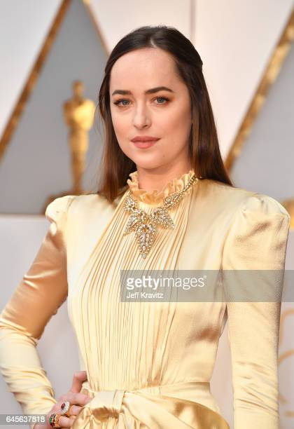 Actor Dakota Johnson attends the 89th Annual Academy Awards at Hollywood Highland Center on February 26 2017 in Hollywood California