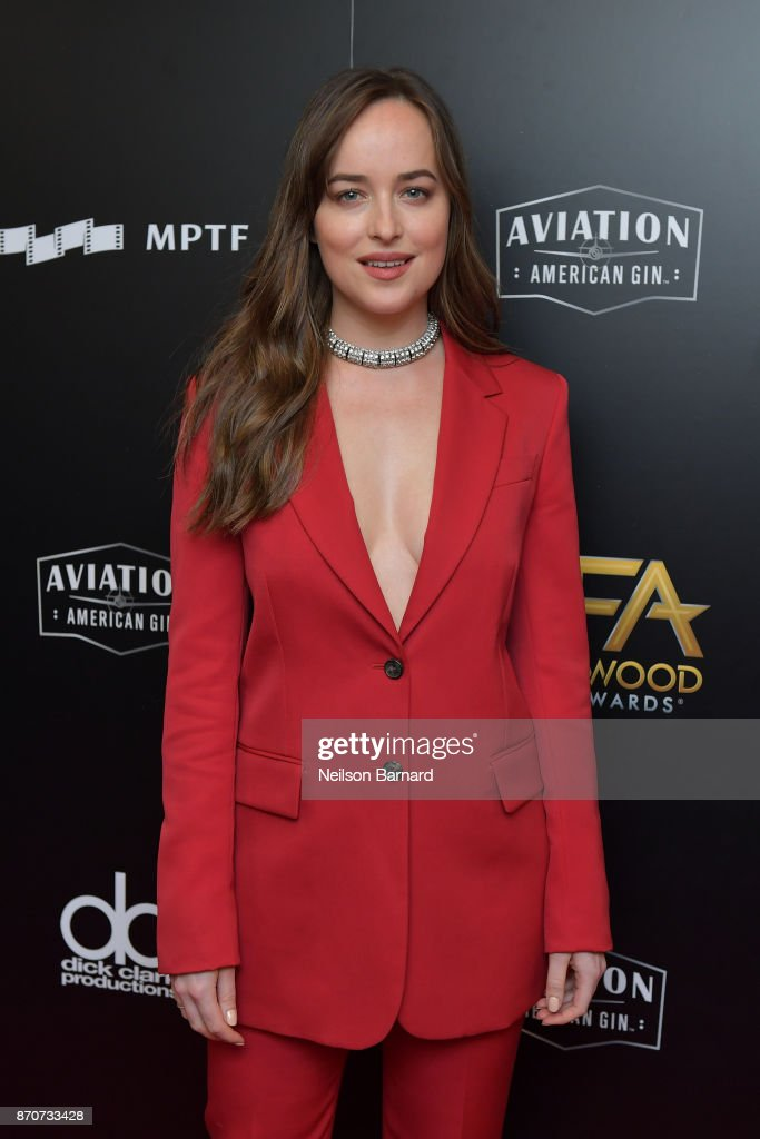 Actor Dakota Johnson poses in the press room during the 21st Annual Hollywood Film Awards at The Beverly Hilton Hotel on November 5, 2017 in Beverly Hills, California.