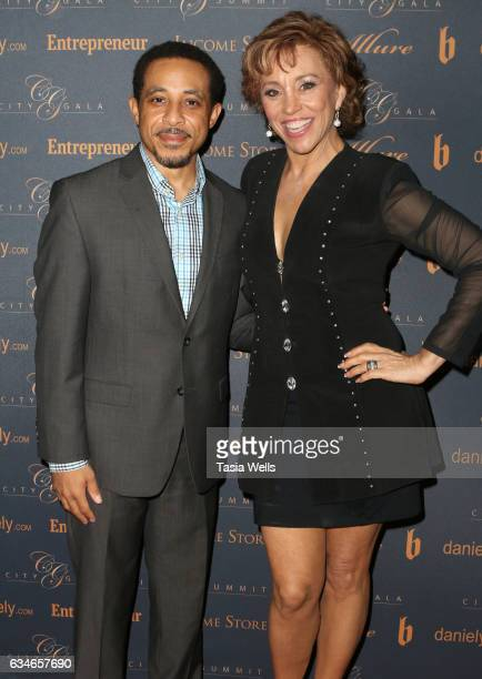 Actor Dale Godboldo and actress Forbes Riley attends City Summit presented by Entrepreneur Magazine at Allure Events and Catering on February 10 2017...