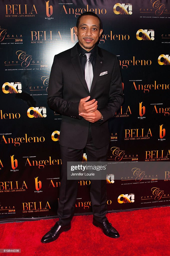 Actor Dale Godboldo arrives at the 2016 City Gala Fundraiser at The Playboy Mansion on February 15, 2016 in Los Angeles, California.