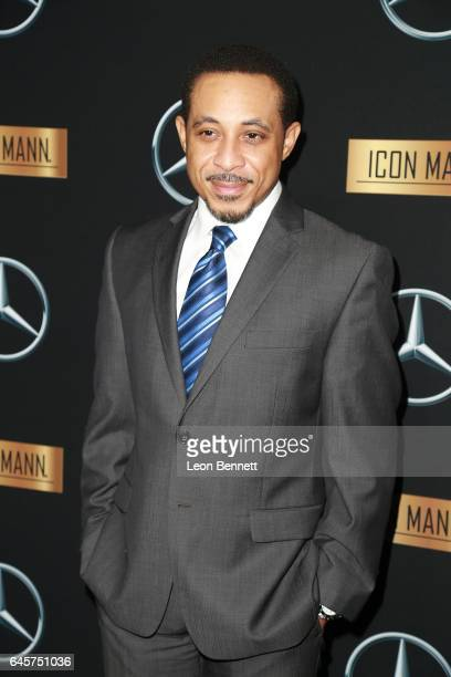 Actor Dale Godboldo arrives at the MercedesBenz x ICON MANN 2017 Academy Awards Viewing Party at Four Seasons Hotel Los Angeles at Beverly Hills on...