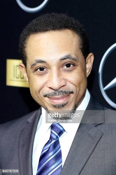 Actor Dale Godboldo attends the Annual MercedesBenz ICON MANN 2017 Awards viewing party at Four Seasons Hotel Los Angeles at Beverly Hills on...