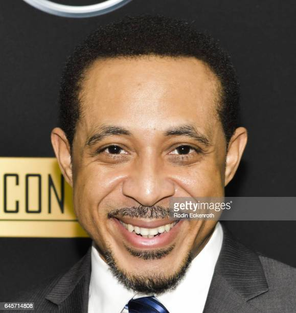 Actor Dale Godboldo attends the MercedesBenz x ICON MANN 2017 Academy Awards Viewing Party at Four Seasons Hotel Los Angeles at Beverly Hills on...