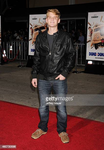 Actor Dalton E Gray arrives at the Los Angeles premiere of 'Dumb And Dumber To' at Regency Village Theatre on November 3 2014 in Westwood California