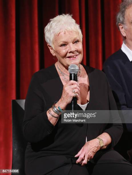 Actor Dame Judi Dench attends an Official Academy Screening of VICTORIA & ABDUL hosted by The Academy of Motion Picture Arts & Sciences at MOMA -...