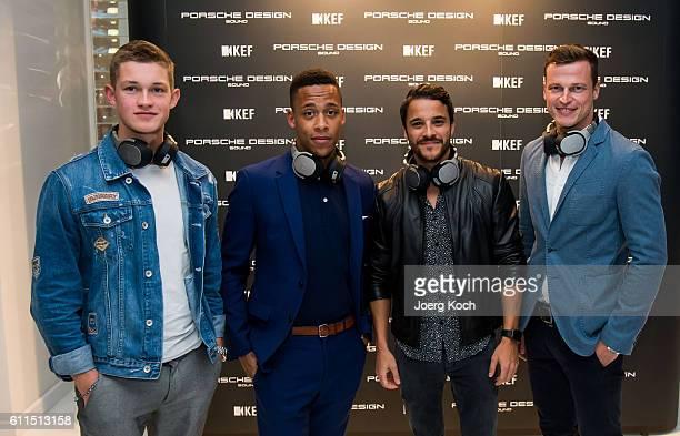 Actor Damian Hardung , Actor Jeffrey Hoffmann, Actor Kostja Ullmann and Model Lars Burmeister attend the Global Premiere of Porsche Design and KEF...