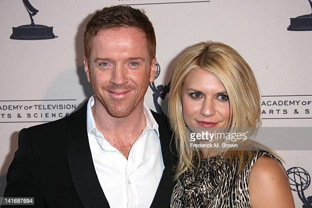 Actor Damian Lewis and actress Claire Danes attend The Academy of Television Arts Sciences Presents an Evening with Homeland at the Leonard H...