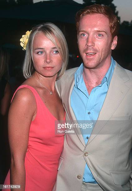 Actor Damian Lewis and girlfriend Katie Razzall attend the Screening of the HBO Miniseries Band of Brothers on August 29 2001 at the Hollywood Bowl...