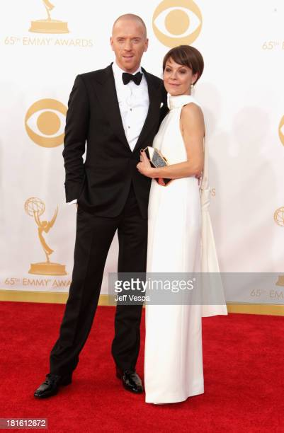 Actor Damian Lewis and Helen McCrory arrive at the 65th Annual Primetime Emmy Awards held at Nokia Theatre LA Live on September 22 2013 in Los...