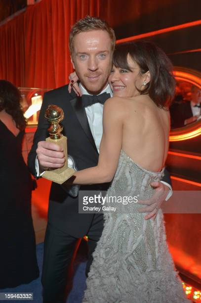 Actor Damian Lewis and Helen McCrory attend The Weinstein Company's 2013 Golden Globe Awards After Party presented by Chopard held at The Old Trader...