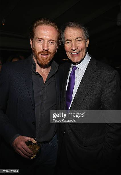 Actor Damian Lewis and journalist Charlie Rose attend The New Yorker's annual party kicking off The White House Correspondents' Association Dinner...