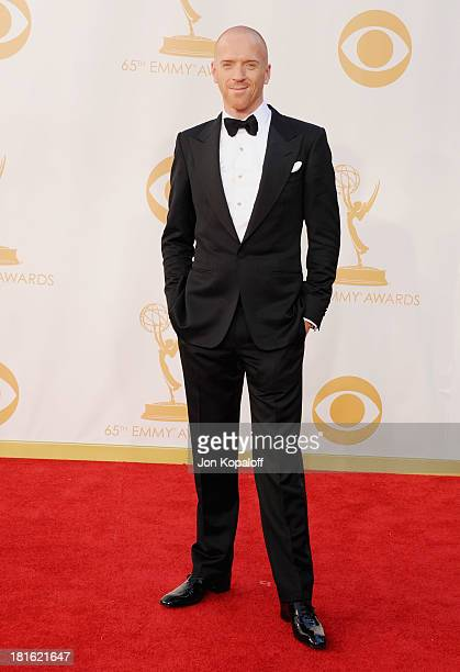 Actor Damian Lewis arrives at the 65th Annual Primetime Emmy Awards at Nokia Theatre LA Live on September 22 2013 in Los Angeles California