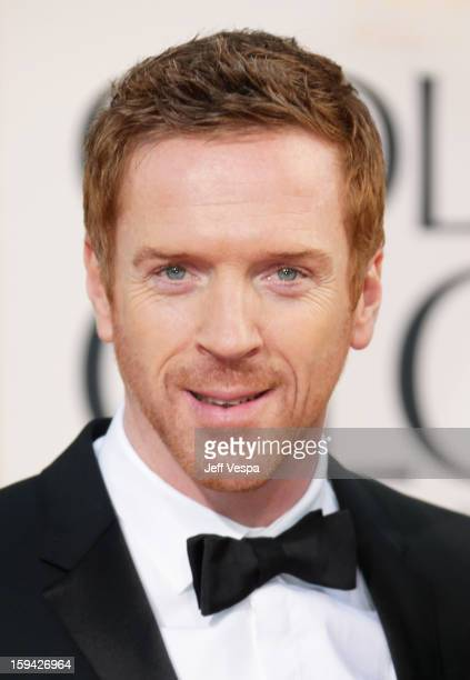 Actor Damian Lewis arrives at the 70th Annual Golden Globe Awards held at The Beverly Hilton Hotel on January 13 2013 in Beverly Hills California