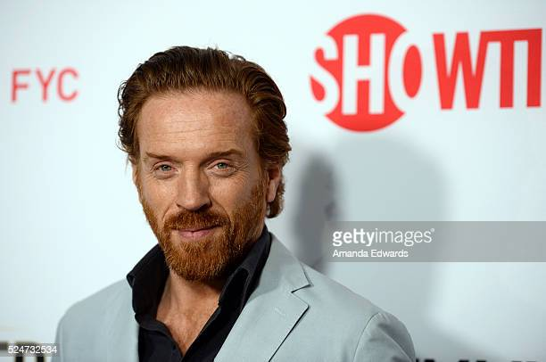 Actor Damian Lewis arrives at the For Your Consideration Screening and Panel for Showtime's 'Billions' at The WGA Theater on April 26 2016 in Beverly...