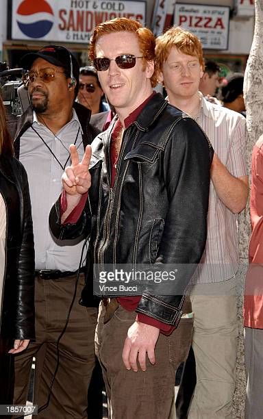 Actor Damian Lewis attends a ceremony honoring actor Morgan Freeman with a star on the Hollywood Walk of Fame on March 18 2003 in Hollywood California