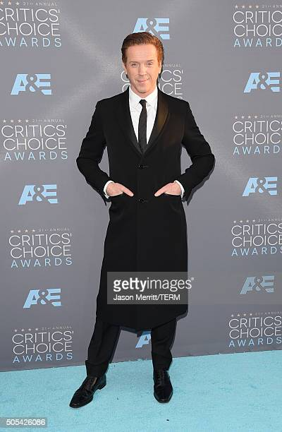 Actor Damian Lewis attends the 21st Annual Critics' Choice Awards at Barker Hangar on January 17, 2016 in Santa Monica, California.