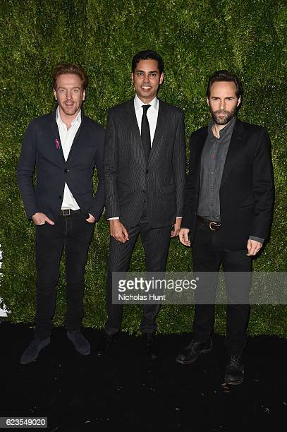 Actor Damian Lewis Chief Curator of Film for MoMA Rajendra Roy and Alessandro Nivola attend the MoMA Film Benefit presented by CHANEL A Tribute To...