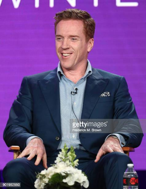 Actor Damian Lewis of the television show BILLIONS speaks onstage during the CBS/Showtime portion of the 2018 Winter Television Critics Association...