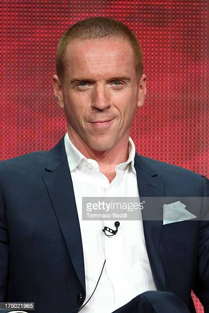 Actor Damian Lewis of the TV show Homeland attends the Television Critic Association's Summer Press Tour CBS/CW/Showtime panels held at The Beverly...