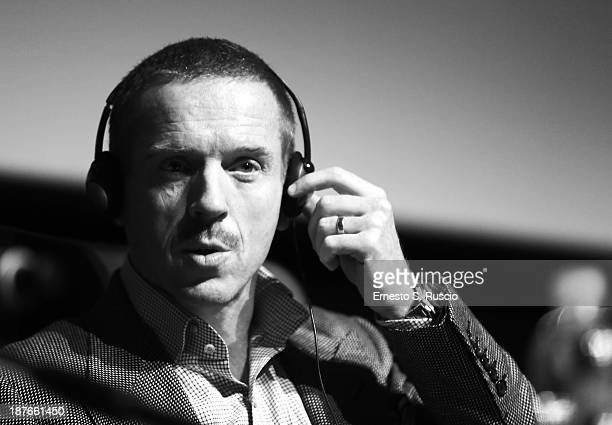 Actor Damian Lewis speaks at the 'Romeo And Juliet' Press Conference during the 8th Rome Film Festival at the Auditorium Parco Della Musica on...