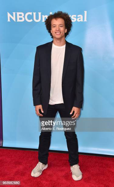 Actor Damon J Gillespie attends NBCUniversal's Summer Press Day 2018 at The Universal Studios Backlot on May 2 2018 in Universal City California