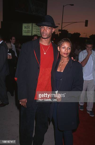Actor Damon Wayans and Lisa Thorner attending the premiere of 'Bulletproof' on August 28 1996 at the Cinerama Dome Theater in Hollywood California