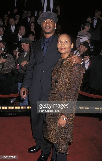 Actor Damon Wayans and wife Lisa Thorner attending 12th Annual American Comedy Awards on February 22 1998 at the Shrine Auditorium in Los Angeles...