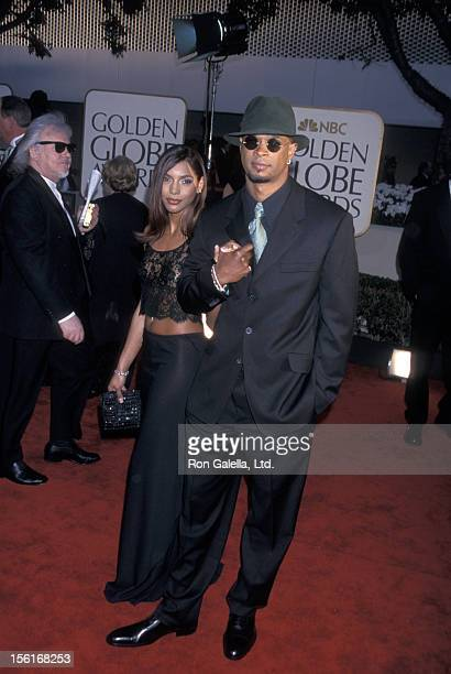 Actor Damon Wayans and wife Lisa Thorner attending 59th Annual Golden Globe Awards on January 20 2002 at the Beverly Hilton Hotel in Beverly Hills...