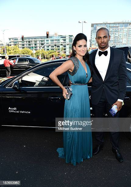 Actor Damon Wayans Jr. And guest arrive at Audi at The 64th Primetime Emmy Awards at Nokia Theatre L.A. Live on September 23, 2012 in Los Angeles,...