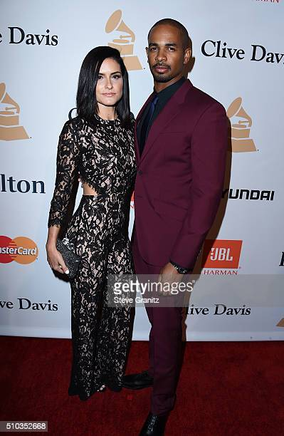 Actor Damon Wayans, Jr. And Sameera attend the 2016 Pre-GRAMMY Gala and Salute to Industry Icons honoring Irving Azoff at The Beverly Hilton Hotel on...