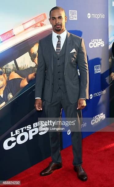 "Actor Damon Wayans Jr. Attends the premiere of Twentieth Century Fox's ""Let's Be Cops"" at ArcLight Hollywood on August 7, 2014 in Hollywood,..."