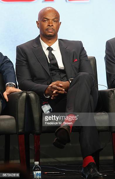 Actor Damon Wayons speaks onstage at the 'Lethal Weapon' panel discussion during the FOX portion of the 2016 Television Critics Association Summer...
