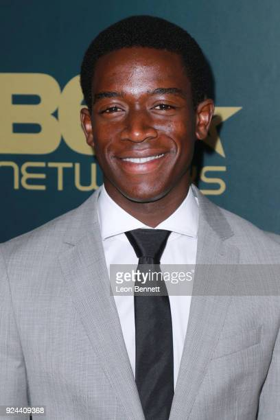 Actor Damson Idris attends the 2018 American Black Film Festival Honors Awards at The Beverly Hilton Hotel on February 25 2018 in Beverly Hills...