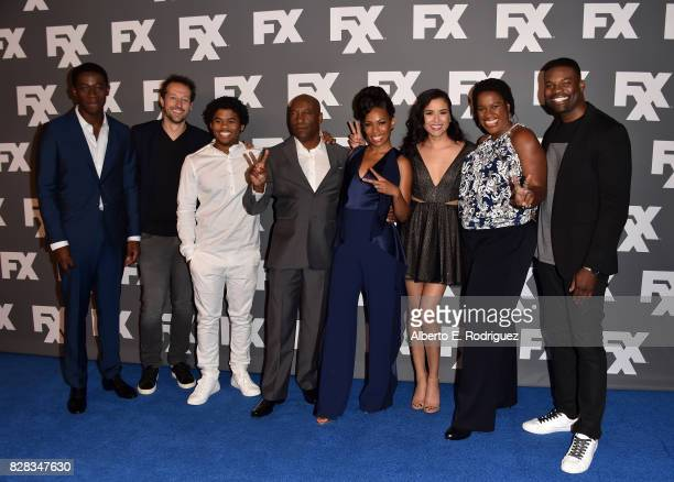 Actor Damson Idris cocreator/executive producer Dave Andron actor Isaiah John cocreator/executive producer John Singleton and actors Angela Lewis...