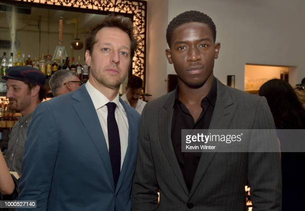 Actor Damson Idris poses at the after party for the premiere of FX's 'Snowfall' Season 2 at the Hotel Figueroa on July 16 2018 in Los Angeles...