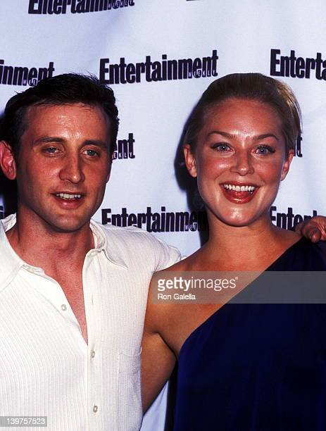 Actor Dan Abrams and actress Elisabeth Rohm attend First Annual It List Entertainment Weekly Party on June 24 2002 at Milk Studios in New York City