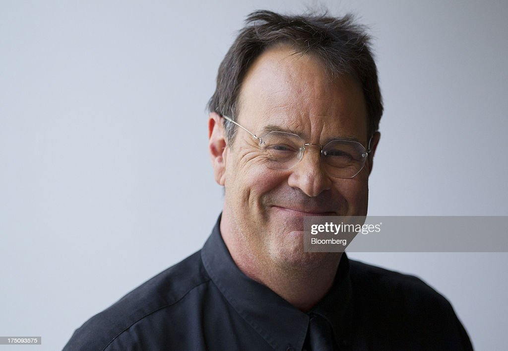 Actor Dan Ackroyd, co-founder of Crystal Head Vodka, stands for a photograph following a Bloomberg Television interview in New York, U.S., on Wednesday, July 31, 2013. Founded with artist John Alexander, Crystal Head takes its name from the eerie skull-shaped bottle it comes in. Photographer: Jin Lee/Bloomberg via Getty Images