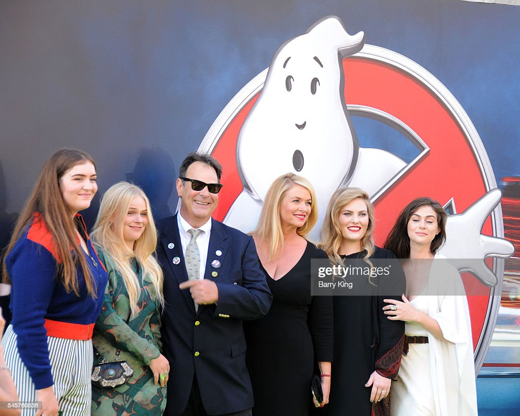 Actor Dan Akroyd and actress Donna Dixon and familiy attend the premiere of Sony Pictures' 'Ghostbusters' at TCL Chinese Theatre on July 9, 2016 in Hollywood, California.