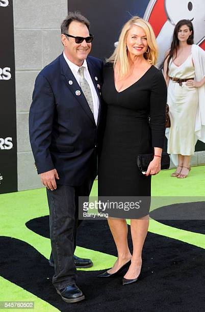 Actor Dan Akroyd and actress Donna Dixon attend the premiere of Sony Pictures' 'Ghostbusters' at TCL Chinese Theatre on July 9, 2016 in Hollywood,...