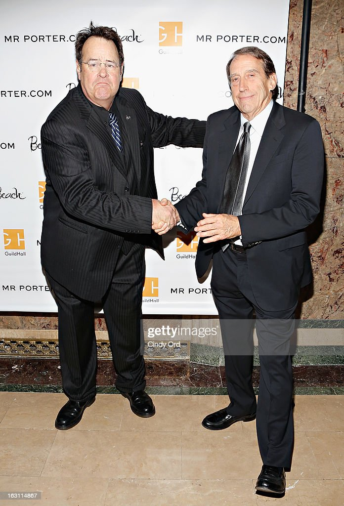 Actor Dan Akroyd and artist John Alexander attend the Guild Hall: Academy Of The Arts Lifetime Achievement Awards at The Plaza Hotel on March 4, 2013 in New York City.