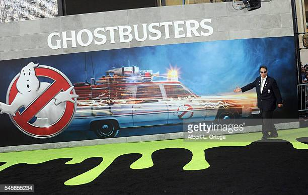 "Actor Dan Akroyd arrives for the Premiere Of Sony Pictures' ""Ghostbusters"" held at TCL Chinese Theatre on July 9, 2016 in Hollywood, California."