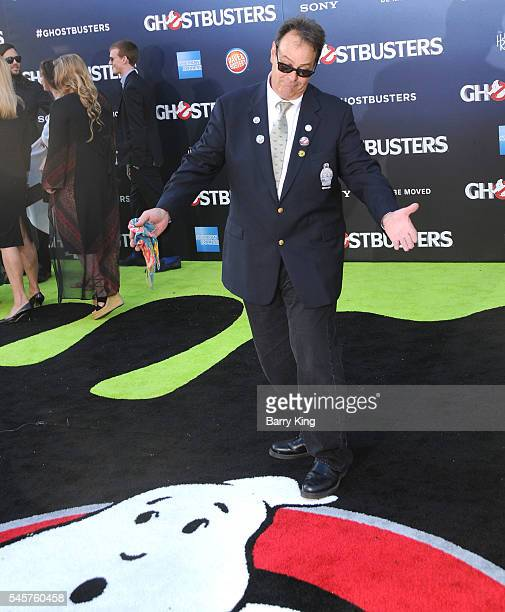 Actor Dan Akroyd attends the premiere of Sony Pictures' 'Ghostbusters' at TCL Chinese Theatre on July 9 2016 in Hollywood California