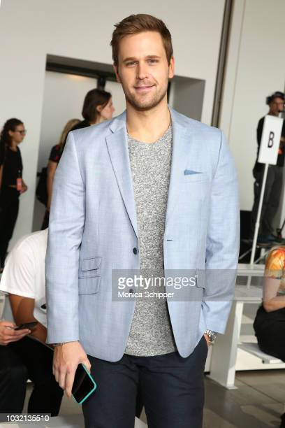 Actor Dan Amboyer attends the Calvin Luo front Row during New York Fashion Week The Shows at Gallery I at Spring Studios on September 12 2018 in New...
