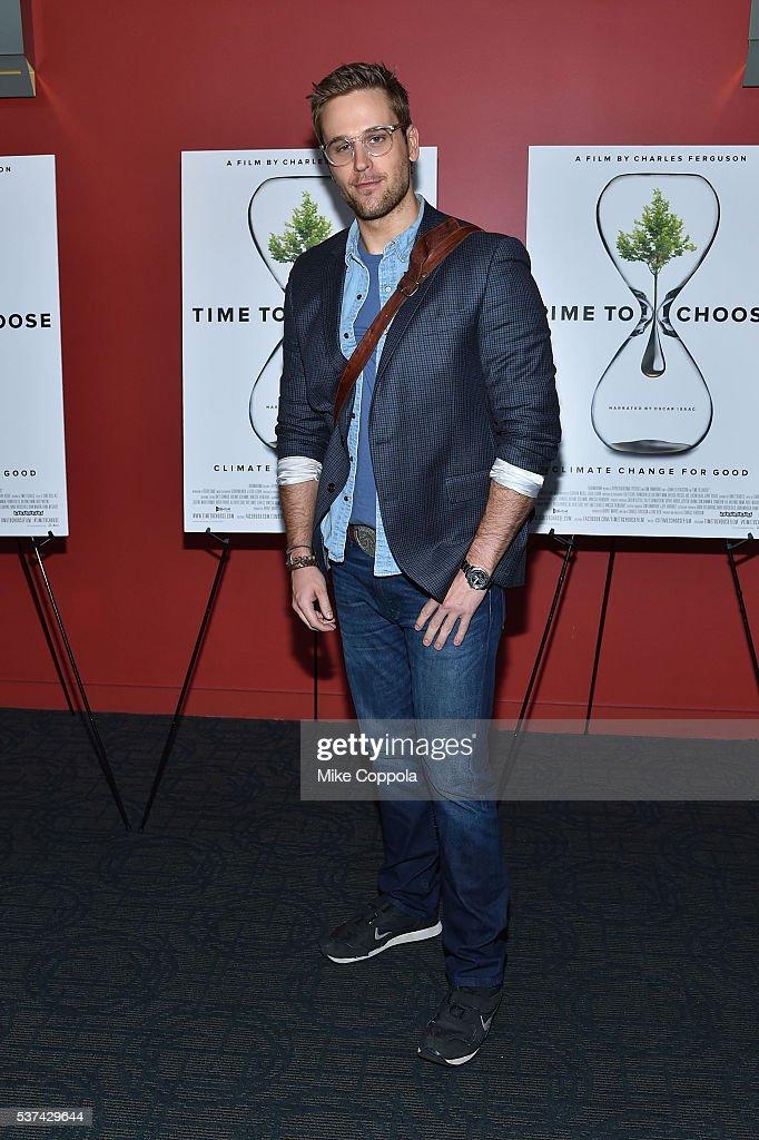 Actor Dan Amboyer attends the 'Time To Choose' New York screening at Landmark's Sunshine Cinema on June 1, 2016 in New York City.