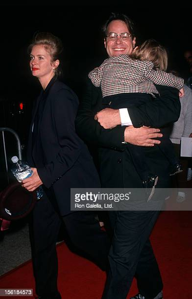 Actor Dan Aykroyd actress Donna Dixon and daughter Danielle Aykroyd attend the premiere of 'My Girl' on November 3 1991 at the Cineplex Odeon Cinema...