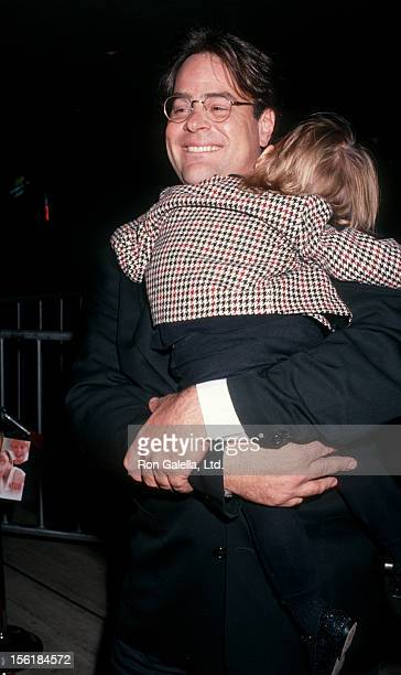 Actor Dan Aykroyd and daughter Danielle Aykroyd attend the premiere of 'My Girl' on November 3 1991 at the Cineplex Odeon Cinema in Century City...