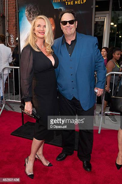 """Actor Dan Aykroyd and wife Donna Dixon attend the """"Get On Up"""" premiere at The Apollo Theater on July 21, 2014 in New York City."""