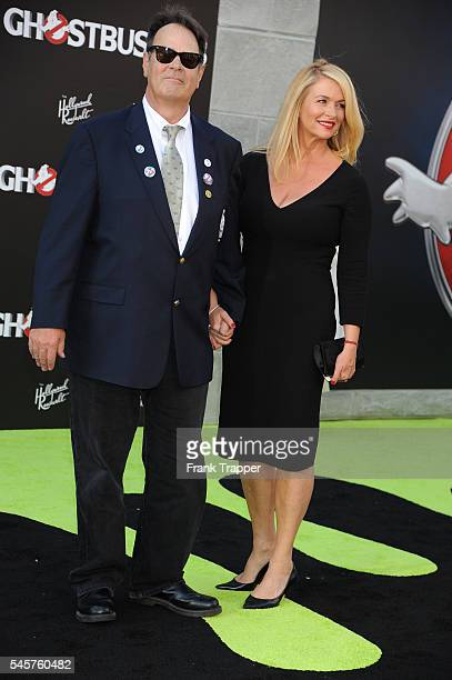 """Actor Dan Aykroyd and wife/actress Donna Dixon attend the premiere of Sony Pictures' """"Ghostbusters"""" held at TCL Chinese Theater on July 9, 2016 in..."""